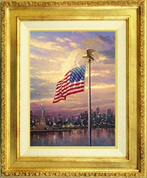Thomas Kinkade Light of Freedom Framed
