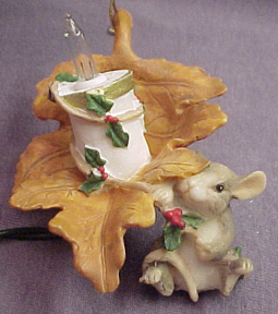 Charming Tails Maxine Lights A Candle Ornament 87942