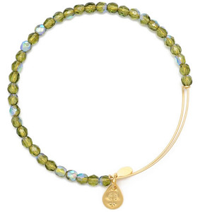 Rock Candy Bangle Moss Gold