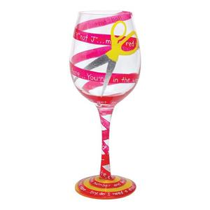 Red Tape Wine Glass GLS11-5590E