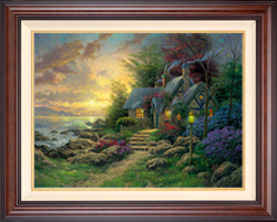 Thomas Kinkade Seaside Hideaway 25 1/2 x 34 Canvas S/N