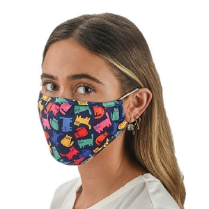 Snoozies Cats Reusable Face Covering Mask w/ 4 Filters
