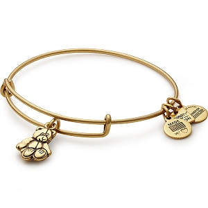 Little Brown Bear Charm Bangle Gold Child Mind Institute