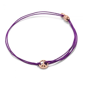 World Peace Purple Kindred Cord Bracelet Rose Gold