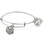Baby Block Charm Bangle March Of Dimes Silver