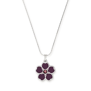 Armenian Flower Forget Me Not Necklace Armenia Fund Shiny Silver