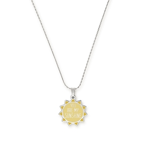 You Are My Sunshine Expandable Necklace Shiny Silver