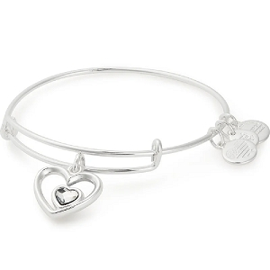 Heart in Heart Charm Bangle Every Mother Counts