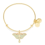 Luna Moth Charm Bangle Shiny Gold