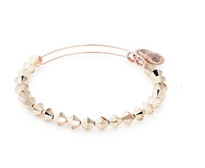 Champagne Beaded Bangle Rose Gold