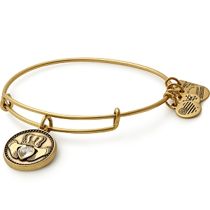 Claddagh Charm Bangle Rafaelian Gold