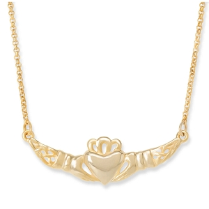 Claddagh Necklace 18kt Gold Plated NK256G