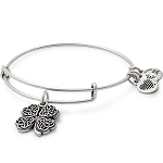 Four Leaf Clover Charm Bangle Rafaelian Silver