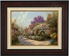 Thomas Kinkade Cobblestone Village 25 1/2 x 34 Canvas