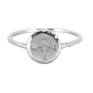Compass Ring Silver Size 5