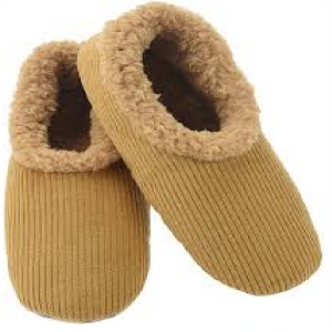 Mens Corduroy Slippers Tan Size Small 7 - 8