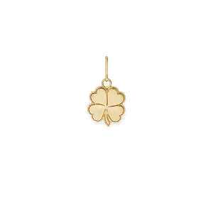Four Leaf Clover Necklace Charm Gold