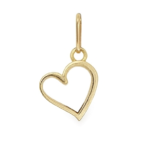 Heart Necklace Charm Gold