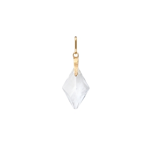 Crystal Rhombus Necklace Charm Gold