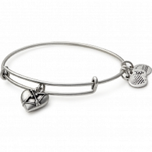 Cupids Heart Bangle Rafaelian Silver