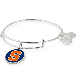 Syracuse University Logo Color Infusion Charm Bangle Silver
