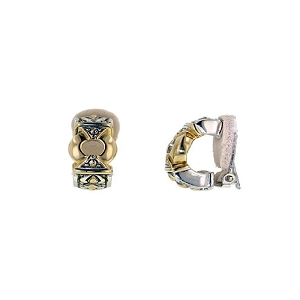 Gold Circle Clip Earrings D2808-A000