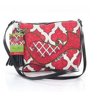 Love Dove Christmas Holiday Crossbody Pouch Bag D30058