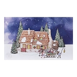 Department 56 Family Home Lit Canvas