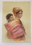 Edna Hibel Dahia and Child 35 1/4 x 24 1/2 section IX