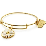 Daisy Charm Bangle Shiny Gold Finish