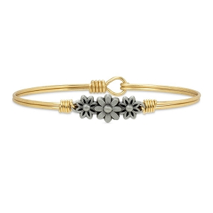 Daisy Bangle Bracelet Brass 7.0