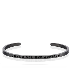 Dream Believe Achieve Moon Gray