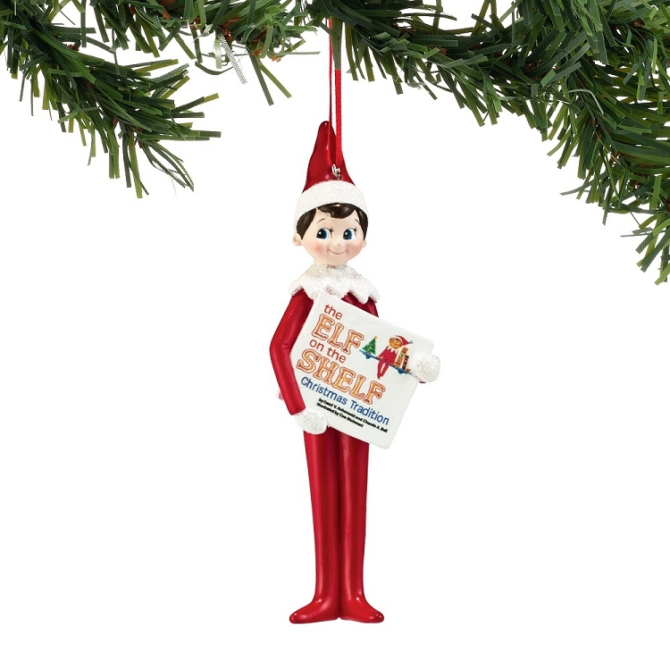 100% authentic becfe a55b5 Elf On The Shelf Elf Reading Ornament 4051638