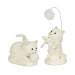 Department 56 Snowbabies Collectible Cat Animal 2018 Large and Small