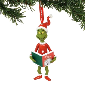 Grinch With The Book Ornament 6000300