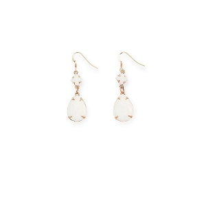 Birch Dewdrop Earrings Rose Gold