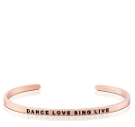 Dance Love Sing Live Rose Gold