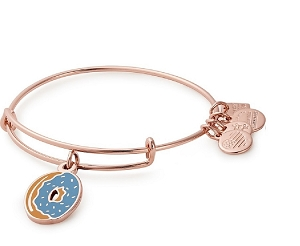Donut Charm Bangle Rose Gold