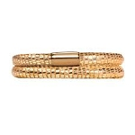 Endless Jennifer Lopez Leather Bracelet Double Gold Reptile 8.0 Gold