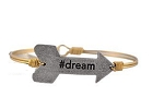 Dream Arrow Bangle Brass 7.5