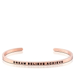 Dream Believe Achieve Rose Gold