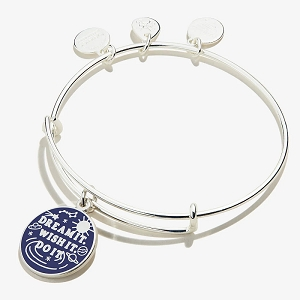 Dream It Wish It Do It Charm Bangle Shiny Silver WE.ORG