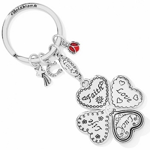 Lucky Clover Heart Key Fob E11042