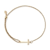 Cross Pull Chain Bracelet 14kt Gold
