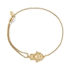Hand of Fatima Pull Chain Bracelet Gold