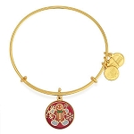 Gingerbread Man Charm Bangle Gold