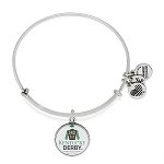 Kentucky Derby 142 Charm Bangle Silver