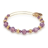 Passion Beaded Bangle Swarovski Crystals Shiny Gold
