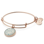 You Are Enough Charm Bangle Shiny Rose Gold