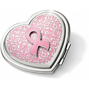 Power Of Pink Heart Compact Mirror E99700
